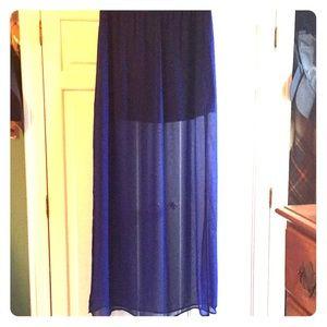 H&M royal/cobalt blue maxi skirt